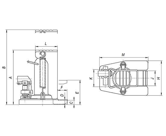 ДА5-116ПН Домкрат автономный с низким подхватом